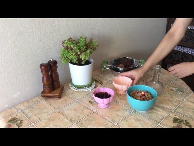 Mısır Gevrekli ve Kuru Üzümlü Çikolata Parçaları Yapımı