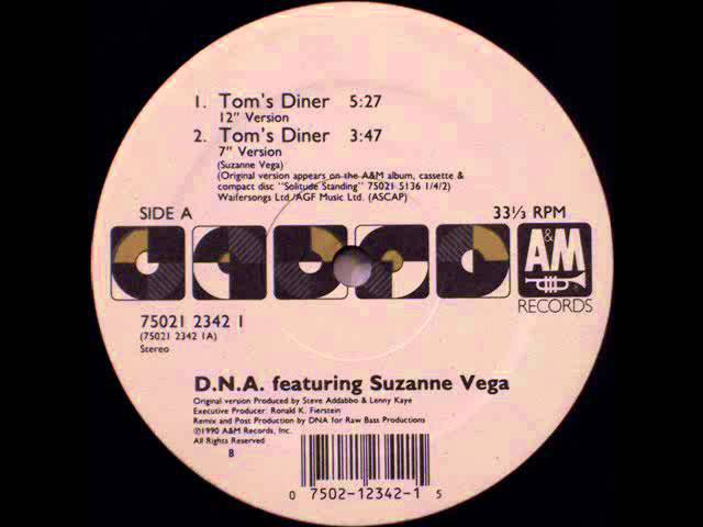DNA Featuring Suzanne Vega - Tom's Diner (12 Inch Version)
