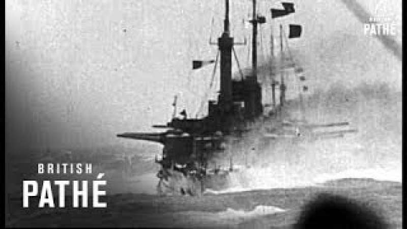 French Navy At Sea In Bad Weather AKA Battleship In Storm (1916)