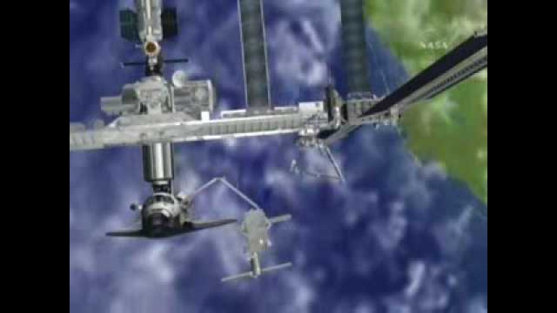 ISS P6 Solar Wing Relocation Animation