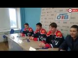 Чемпионы Кубка мира по хоккею в пресс-центре ОТВ