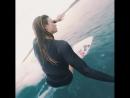 Bianca Buitendag surfing