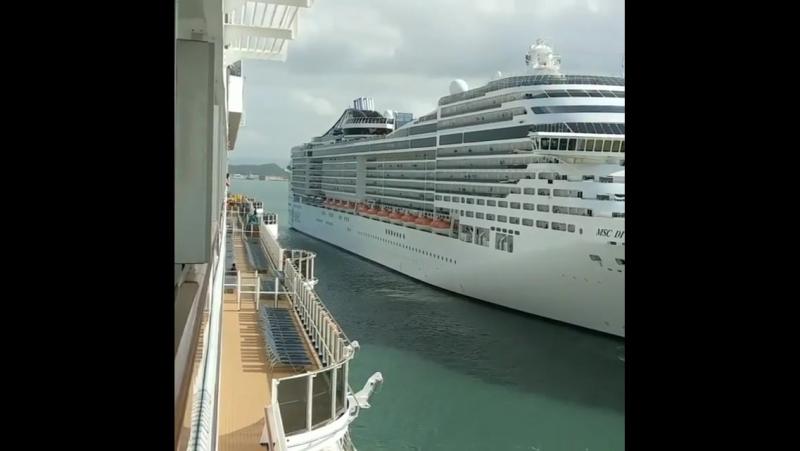 Cruise ship MSC DIVINA at San Juan Puerto Rico