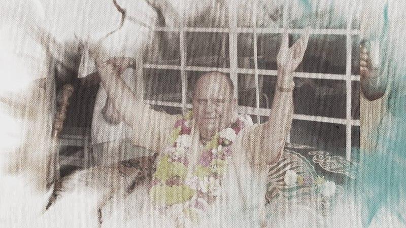 Подношение Е.С. Джаяпатаке Свами Махараджу от учеников Е.М. Чайтанья Чандра Чарана Прабху