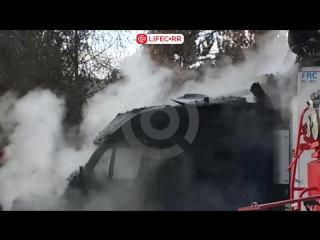 Фура взорвалась на улице Лукашевича в Омске