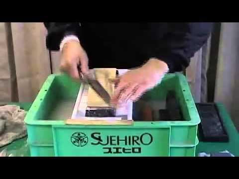 Точильные водные камни Suehiro (Япония). Техника заточки.