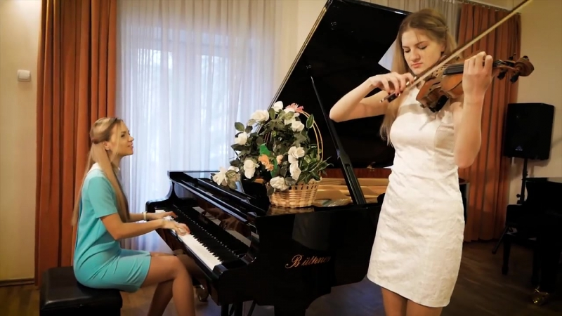 Кавер на пианино и скрипке песни Ляпис Трубецкой - В платье белом