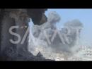 Сирия 12.01.18: ВВС САР нанесли мощнейшие авиаудары по бармалеям в г. Ирбин, восточная Гута!