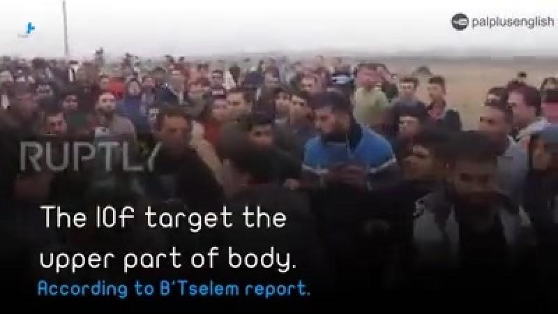 Video les snipers et soldats juifs d'Israël ciblent à dessein la partie supérieure du corps avec des balles réelles lors d'affr