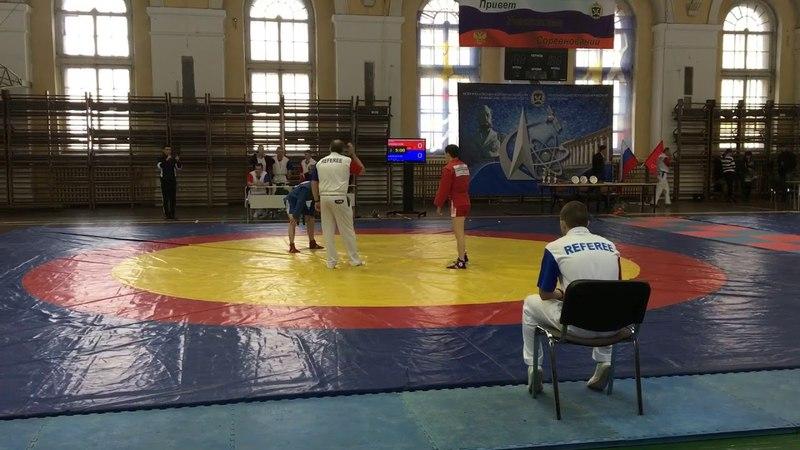 Финальная схватка чемпионата ВКС России по самбо