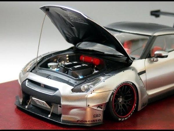 [プラモデル製作]ちょいと本気でアオシマの1/24 LBワークスR35 GT-Rを作ってみま1237