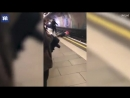 Two drunk guys hurl each other in front of a Victoria Line train