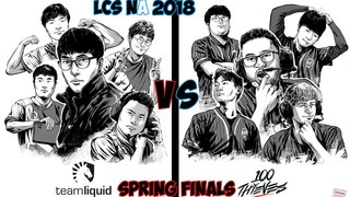TL vs. 100 - Игра 1 Finals   LCS NA Spring Playoffs 2018 Must See