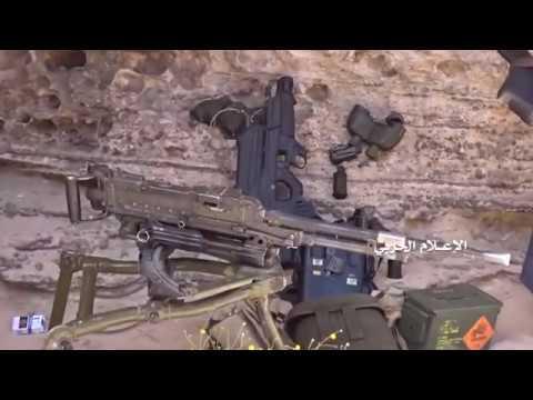 Йемен 18 03 2018 ВС Йемена и хуситы обстреляли пост саудитов и те убежали бросив свое оружие