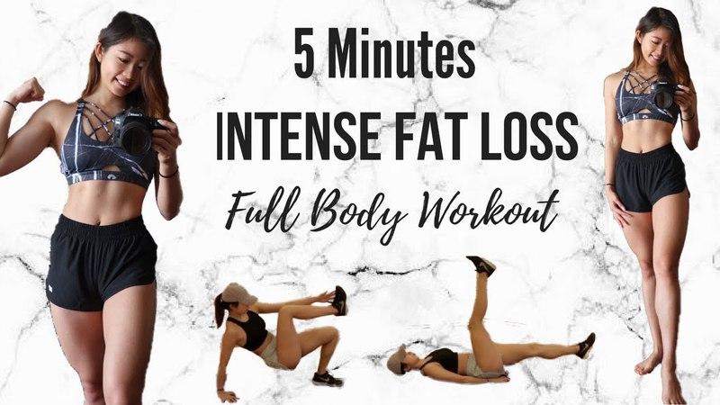 Лучшая 5-минутная жиросжигающая тренировка ВИИТ для плоского живота. BEST 5-MINUTE FAT BURN Workout for Flat Belly! Full Body HIIT At Home