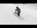 Йоханнес едет на финских санках
