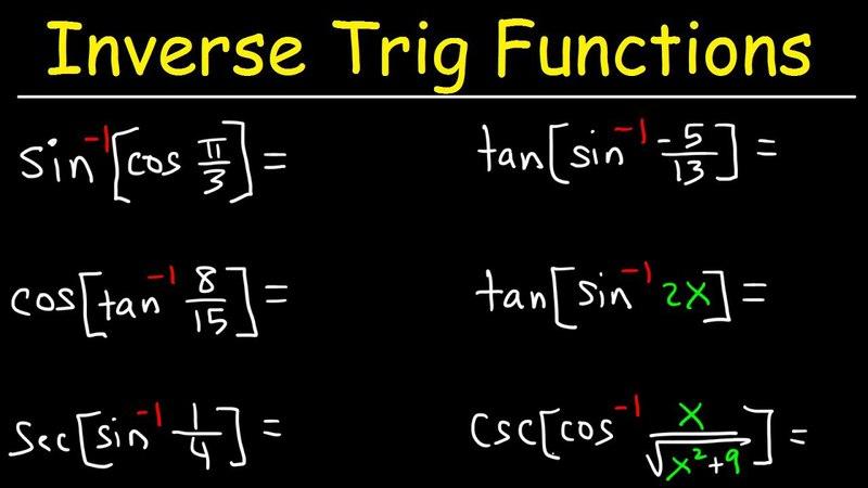 Evaluating Simplifying Composite Inverse Trigonometric Functions