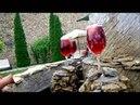 Молдова Малые Милешты фонтан у входа с красным вином!
