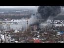Пожар в Красном Аксае 18.02.18