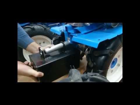 Установка переднего утяжелителя на мотоблок НЕВА МБ