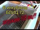 ИНКУБАЦИЯ ЗАКЛАДЫВАЕМ В ИНКУБАТОР БЛИЦ 72 НОРМА 108 ЯИЦ МОЯ ЛЮБИМАЯ УСАДЬБА
