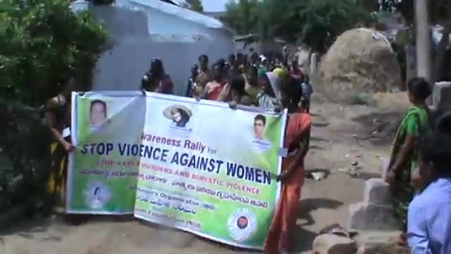 Rural IWO Activists Awareness Rally to Stop Violence Against Women