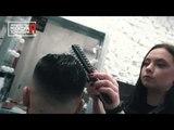 Мужская стрижка, стрижка бороды и чёрная маска