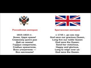 Гимны Британской и Российской империй на одну музыку.