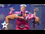 Stevie Pink master illusionist takes to the stage  Week 6 Auditions   Britain's Got Talent 2013