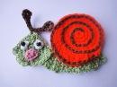 Аппликация УЛИТКА Application SNAIL Crochet