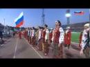 Кубанский казачий хор и фанаты футбола. Песня Встань за веру, Русская земля