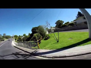Longboarding Carving Up Cars