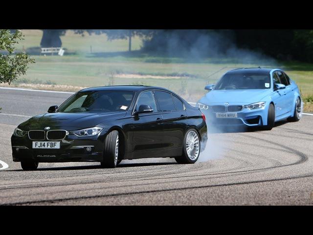 Petrol BMW M3 vs diesel Alpina D3 fast saloon showdown