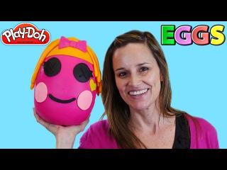Giant Lalaloopsy Eggs Opening ★ Huevos Sorpresa Play Doh LPS Shopkins Surprise Egg