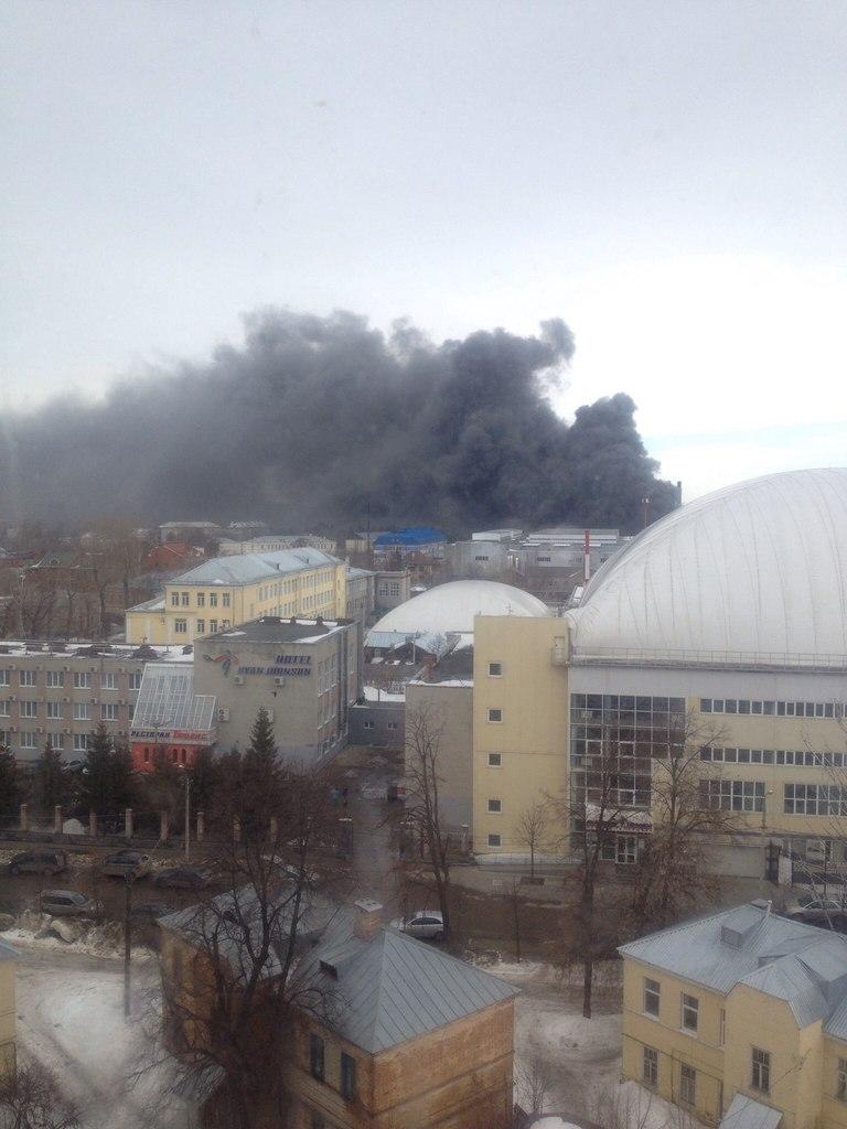 В Казани горит торговый центр «Адмирал». Началась эвакуация персонала и посетителей — МЧС