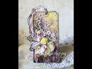 Floral Tag Video Tutorial Цветочный тэг. Микс-медиа. Мастер-класс