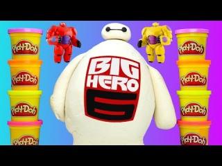 HUGE Baymax Toy Egg Play Doh Surprise Lego Marvel Big Hero 6 TMNT Shopkins MLP LPS Eggs