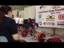 Kimberly Walford 242 5 kg 535 lbs raw deadlift World Record!