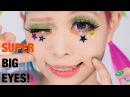 SUPER BIG EYES makeup TUTORIAL Lashes Hairstyle by Kurebayashi Japanese Kawaii model | 紅林大空超デカ目メイク