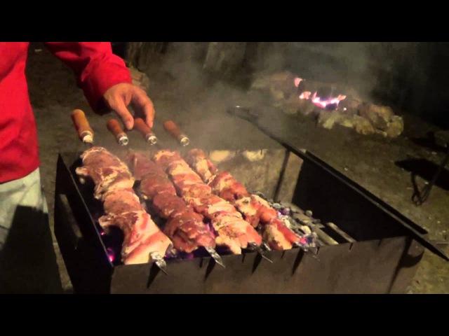 Армянский шашлык из свинины от Оганеса Акопяна Часть 2 Armenian BBQ Khorovats