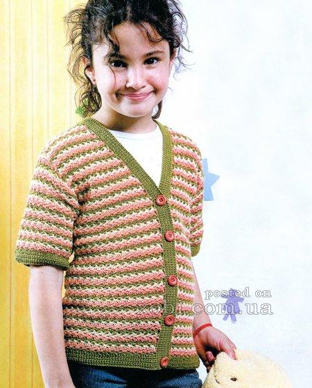 Жакет с коротким рукавом (3 фото) - картинка