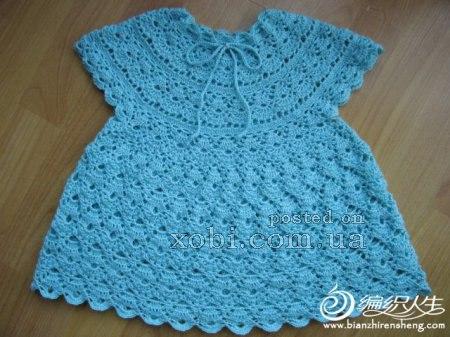 ажурное платье для девочки с круглой кокеткой… (5 фото) - картинка