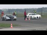 Bugatti Veyron w Mansory Exhaust vs Bugatti Veyron Grand Sport