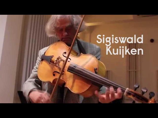 Sigiswald Kuijken introduces the Violoncello da Spalla