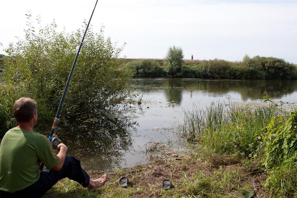 ловля рыбы на перетяжку