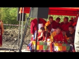 Молитва-благословение на строительство первого буддийского храма на Алтае 06.09.2015. Мантры звучат на древне-тибетском наречии.
