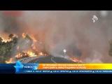 Франция. Лесной пожар на Лазурном берегу Ниццы. 09.09.2015