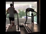 Lionel Messi gets ready for the new season with his son Thiago