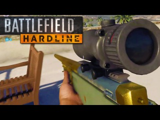 BATTLEFIELD HARDLINE Gameplay - SNIPERS, BEST MAP, CAR CHASES & MORE! (Exclusive Beta Gameplay)