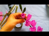Gladiolus paper flower tutorial - Hoa lay ơn giấy nhún